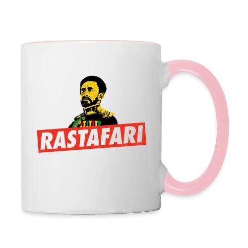 Rastafari - Haile Selassie - HIM - Jah Rastafara - Tasse zweifarbig