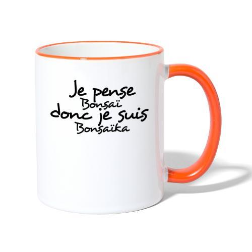 je_pense_donc_je_suis - Mug contrasté