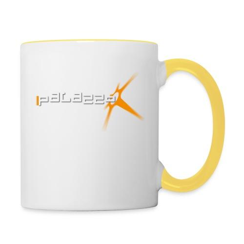 Palazzo Logo Klassik white - Tasse zweifarbig