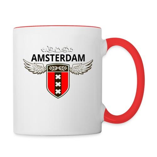 Amsterdam Netherlands - Tasse zweifarbig