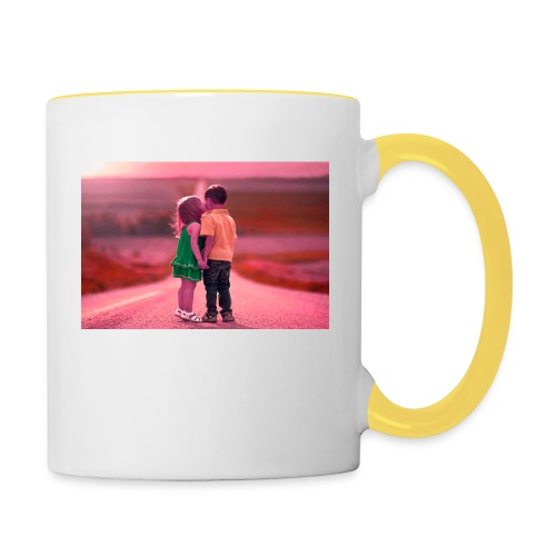 Full HD with hd love - Contrasting Mug