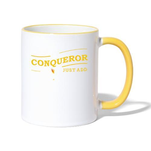 Instant Conqueror, Just Add Dragons - Contrasting Mug