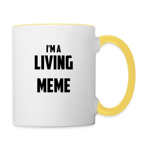 I'm A Living Meme - Contrasting Mug