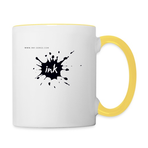 Ink Logo and website - Contrasting Mug