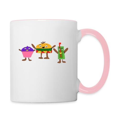 Fast food figures - Contrasting Mug