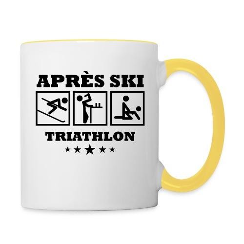 Apres Ski Triathlon | Apreski-Shirts gestalten - Tasse zweifarbig
