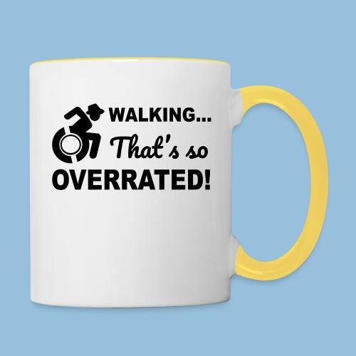 Walkingoverrated2 - Mok tweekleurig