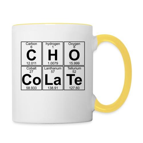 C-H-O-Co-La-Te (chocolate) - Full - Contrasting Mug