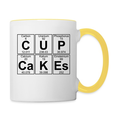 C-U-P-Ca-K-Es (cupcakes) - Full - Contrasting Mug