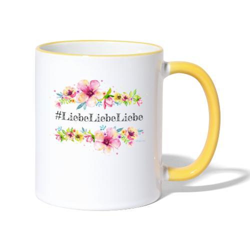 liebeliebeliebe - Tasse zweifarbig