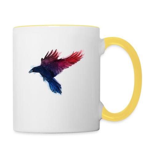 Watercolor Raven - Tasse zweifarbig