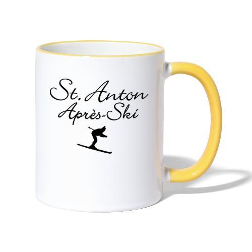 St. Anton Après-Ski Skifahrer - Tasse zweifarbig