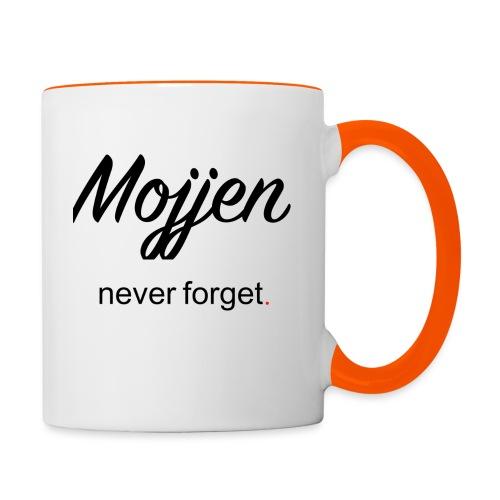 Mojjen - Never forget - Tvåfärgad mugg