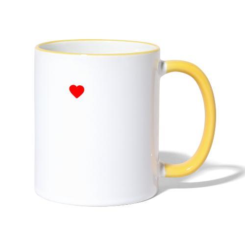 I ❤️ FFWR #DAHOAM - Tasse zweifarbig