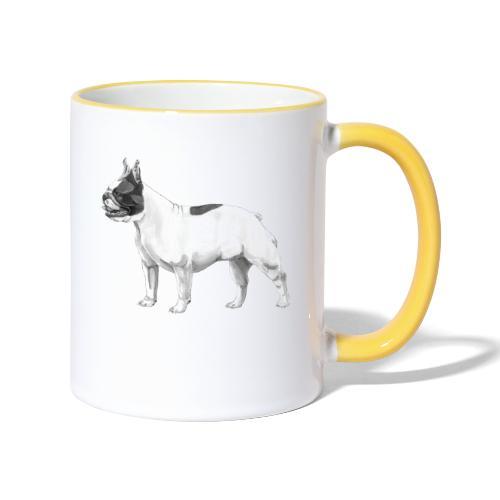 French Bulldog - Tofarvet krus