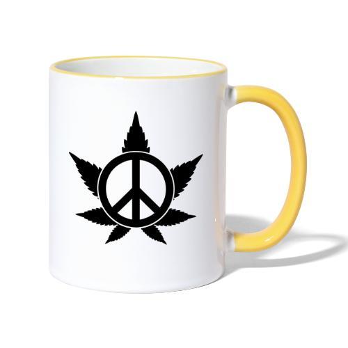 Peace - Tasse zweifarbig
