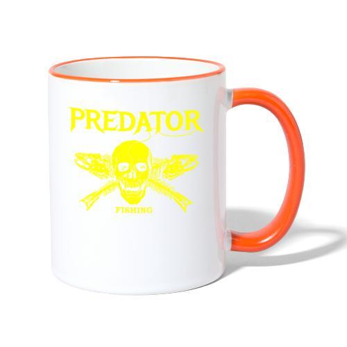 Predator fishing yellow - Tasse zweifarbig