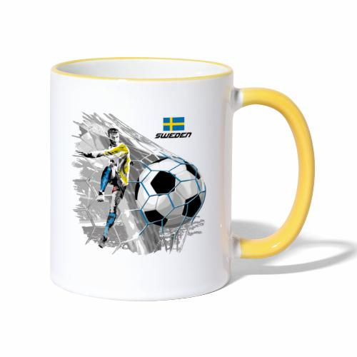 FP22F 16 SWEDEN FOOTBALL - Kaksivärinen muki
