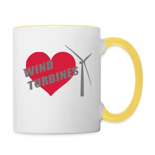 wind turbine grey - Contrasting Mug