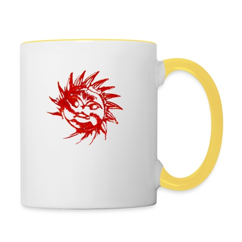 A RED SUN - Contrasting Mug