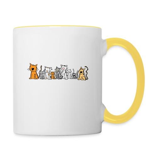 Cats & Cats - Mok tweekleurig