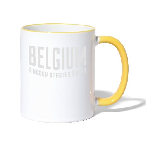 Belgium kingdom of frites & beer - Mug contrasté