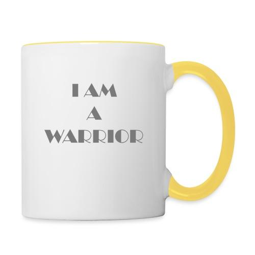 I am a warrior - Contrasting Mug