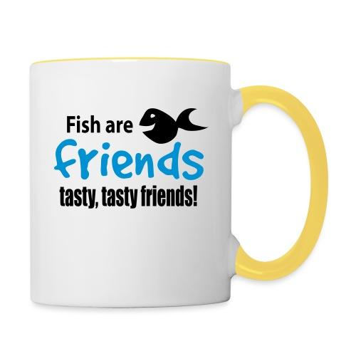 Fisk er venner - Tofarget kopp