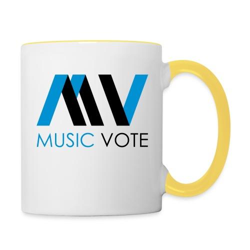 MusicVote - Tasse zweifarbig