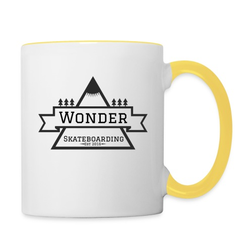 Wonder hoodie no hat - Mountain logo - Tofarvet krus