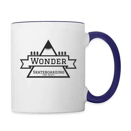 Wonder hoodie no hat - Mountain logo - Tofarvet krus