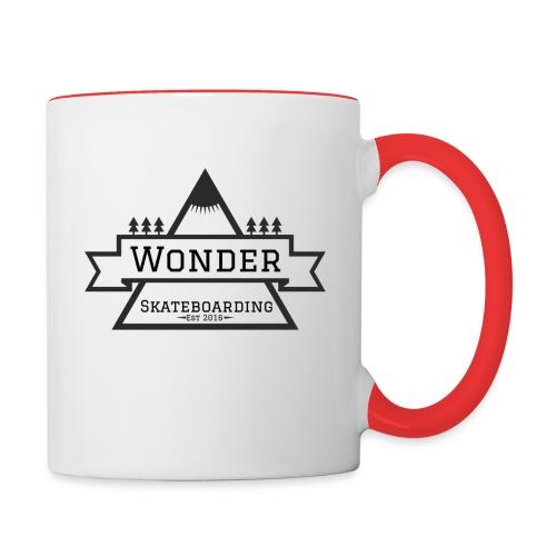 Wonder T-shirt: mountain logo - Tofarvet krus
