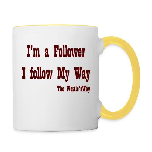 I follow My Way Brown - Kubek dwukolorowy