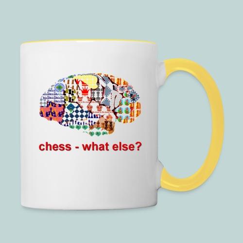 chess_what_else - Tasse zweifarbig