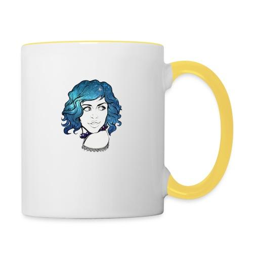 Portrait galaxie bleu - Mug contrasté