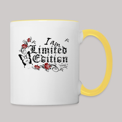 simply wild limited Edition on white - Tasse zweifarbig