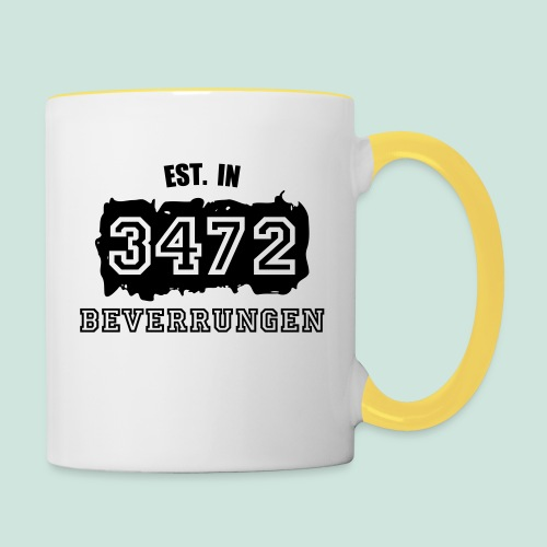 Established 3472 Beverungen - Tasse zweifarbig