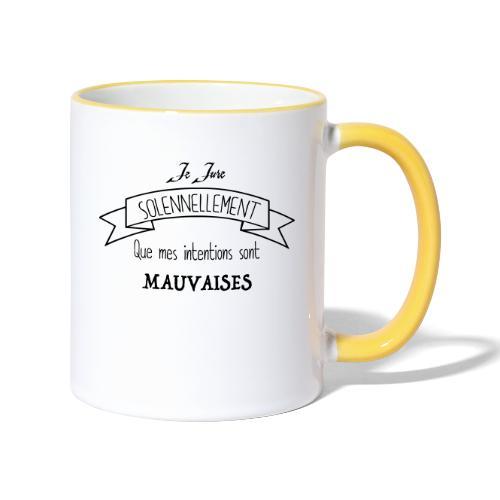 Je jure solennellement - Mug contrasté