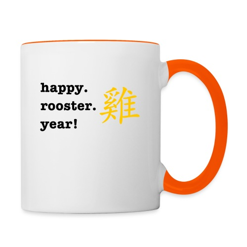 happy rooster year - Contrasting Mug