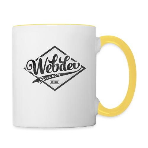 webdev logo - Tasse zweifarbig