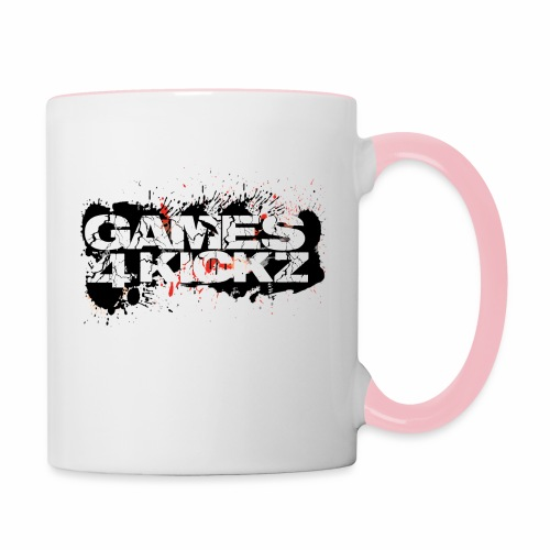 Games4Kickz Logo Splattered Background - Contrasting Mug