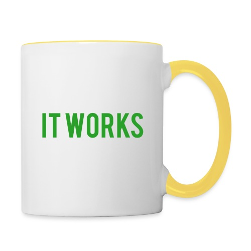 It works on my machine Funny Developer Design - Contrasting Mug