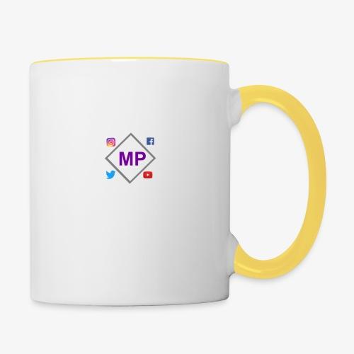 MP logo with social media icons - Contrasting Mug