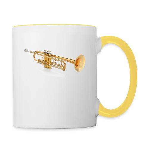the trumpet - Tasse zweifarbig