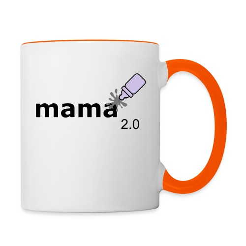 Mama_2-0 - Tasse zweifarbig