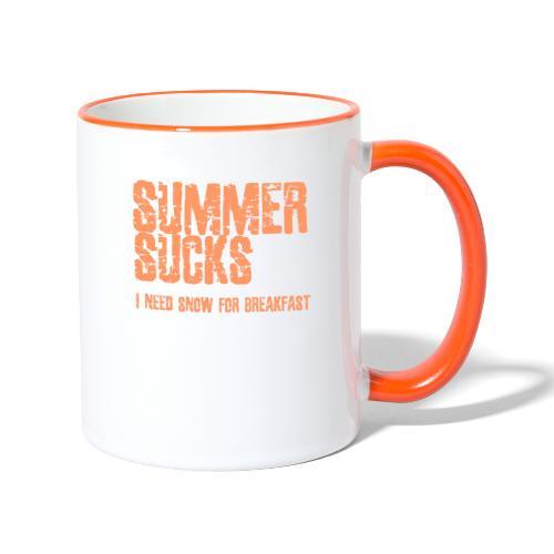 SUMMER SUCKS - Mok tweekleurig