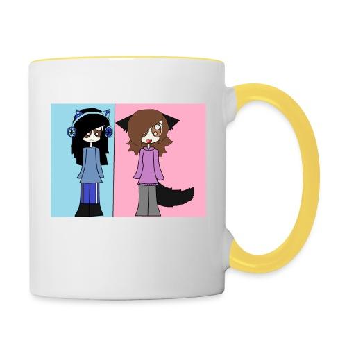 me and ash - Contrasting Mug