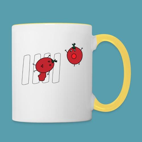 tomaatit - Kaksivärinen muki