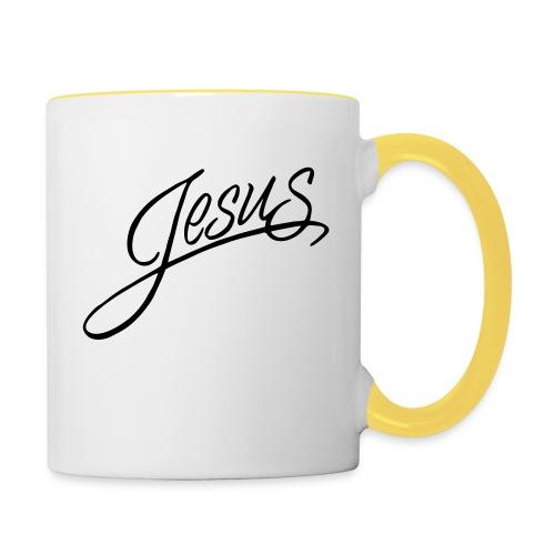 Jesus - Tasse zweifarbig