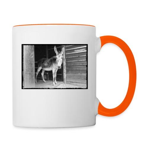 Zickenstube Esel - Tasse zweifarbig